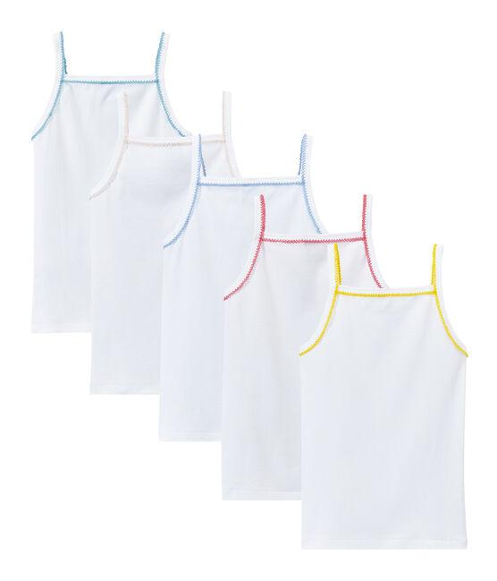 Lot de 5 chemises à bretelles fille à motifs lot .