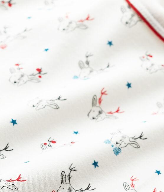 T-shirt garçon manches longues imprimé blanc Lait / blanc Multico