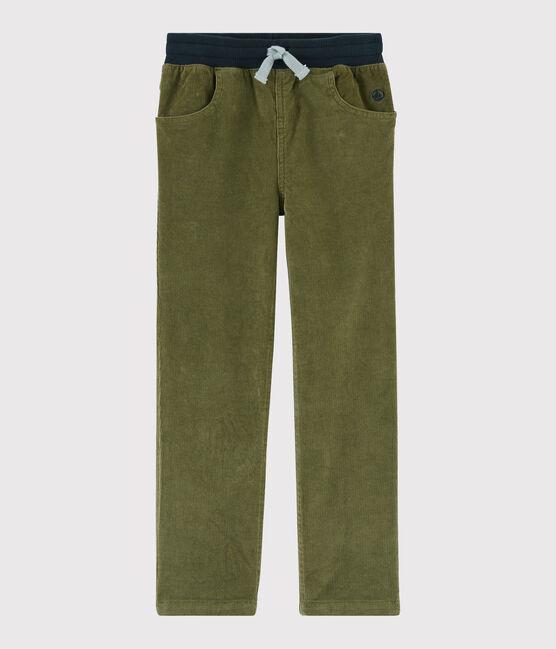 Pantalon en velours enfant garçon MILITARY