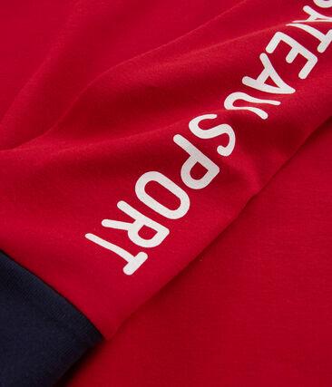 Sweatshirt en côte enfant garçon rouge Terkuit