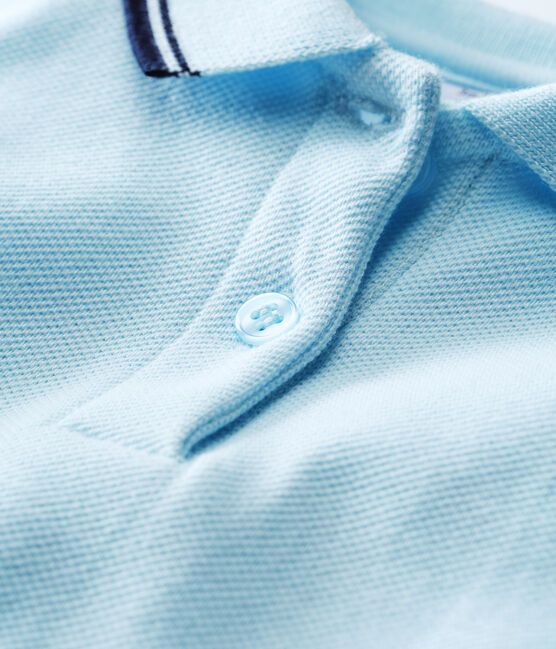 Robe manches courtes bébé fille bleu Bocal