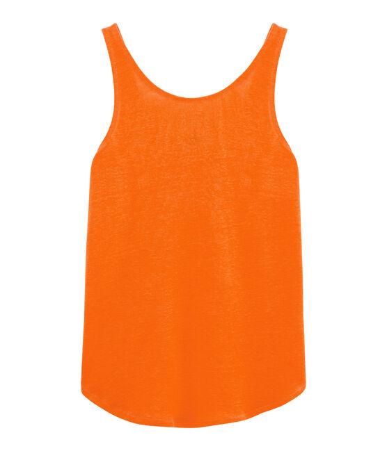 Debardeur lin femme orange Tiger