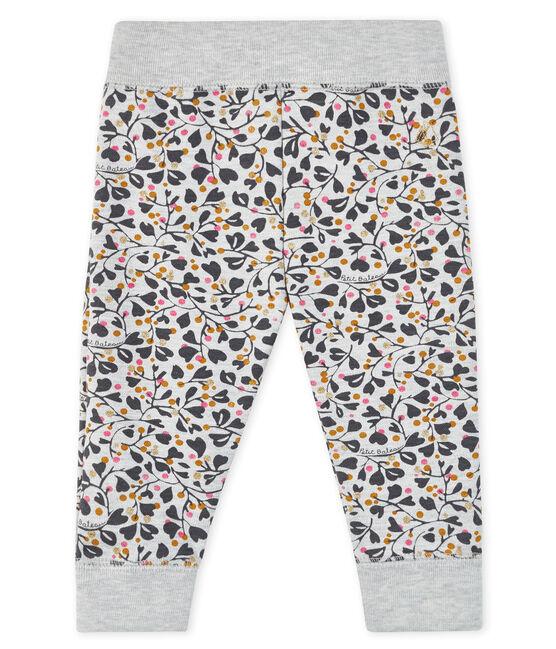 Pantalon de jogging bébé fille gris Beluga / blanc Multico