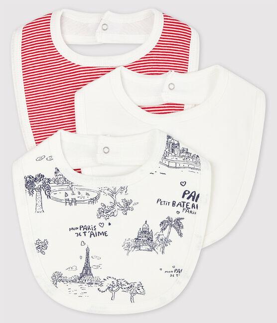 Lot de 3 bavoirs Paris bébé en côte lot .