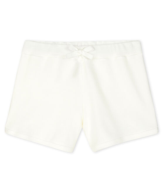 Short enfant fille blanc Marshmallow