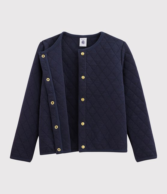 Cardigan en tubique enfant Fille bleu Smoking