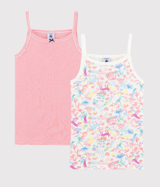 Lot de 2 chemises à bretelles jungle petite fille lot .