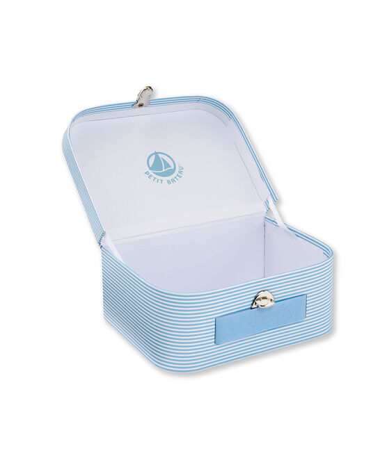 Valisette multi-usage à milleraies bleu Fraicheur / blanc Ecume