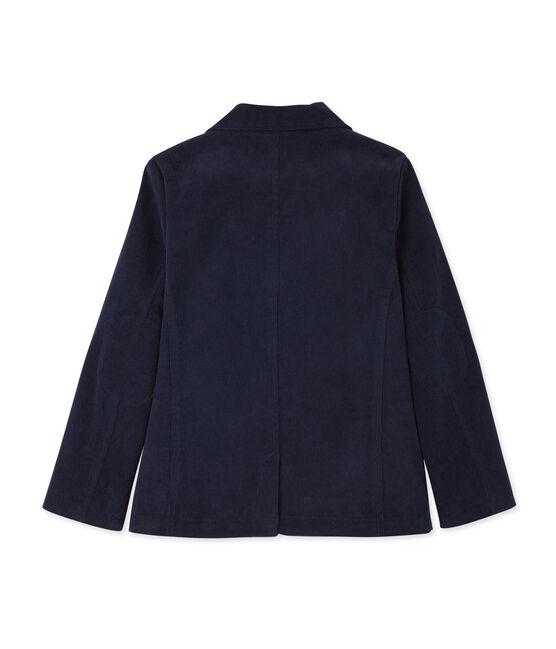 Veste de costume garçon en velours bleu Smoking