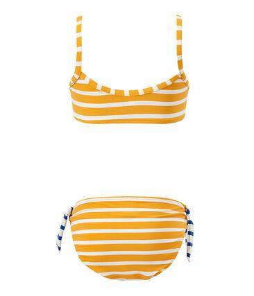 Maillot de bain fille 2 pièces orange Fusion / blanc Marshmallow