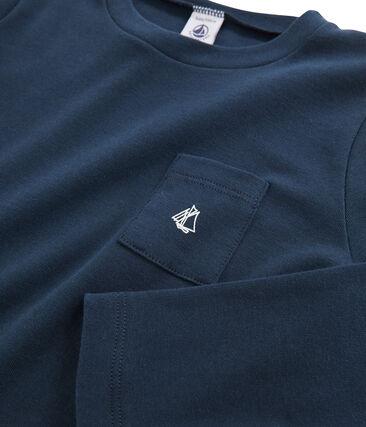 Tee-shirt manches longues enfant garçon bleu Haddock
