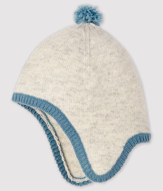 Bonnet gris chiné bébé garçon en tricot gris Beluga