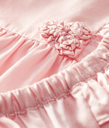 Robe et bloomer bébé fille en satin rose Minois
