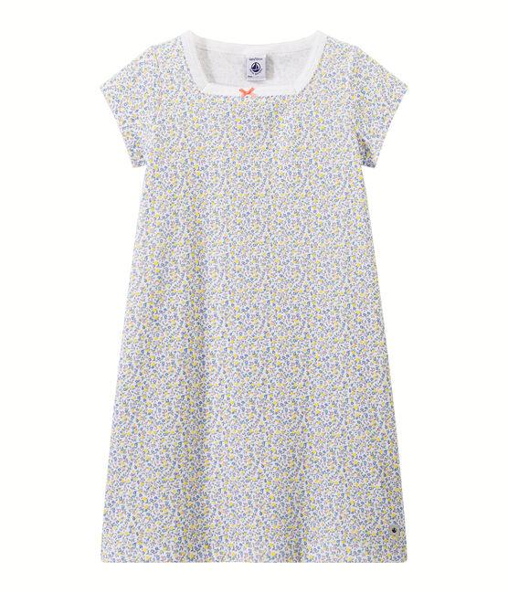 Chemise de nuit fille imprimée blanc Ecume / blanc Multico
