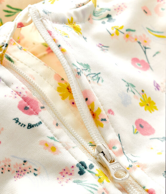 Coupe-vent imprimé bébé mixte blanc Marshmallow / rose Rose