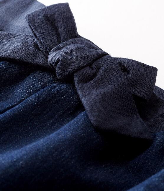 Pantalon maille effet denim bébé fille bleu Jean