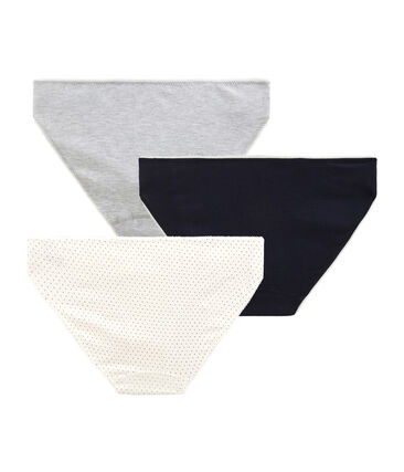 Trio de culottes fille en coton stretch