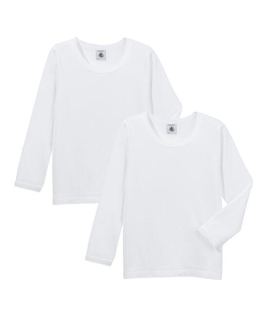 Duo de tee-shirts manches longues petite fille lot .