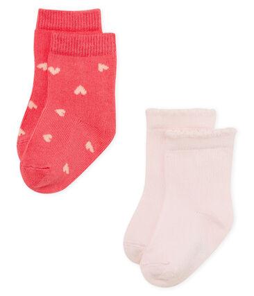 Lot de 2 paires de chaussettes bébé fille