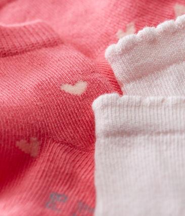 Lot de 2 paires de chaussettes bébé fille lot .