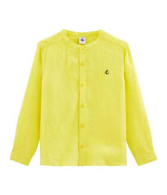 Chemise enfant garcon jaune Eblouis