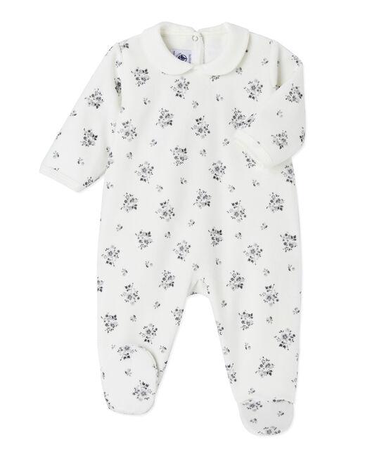 Dors bien bébé fille imprimé blanc Lait / blanc Multico