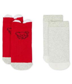 Lot de 2 paires de chaussettes bébé mixte