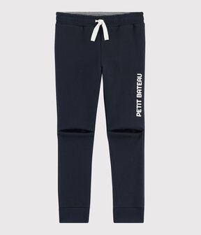 Pantalon de sport enfant garçon bleu Smoking