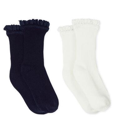Lot de 2 paires de chaussettes dentelle bébé fille