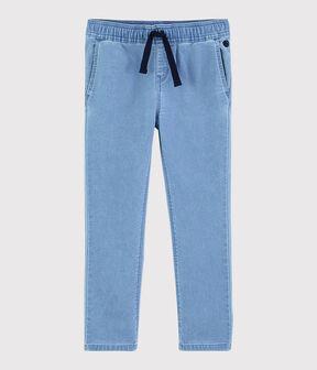 Pantalon en molleton denim enfant garçon bleu Denim clair