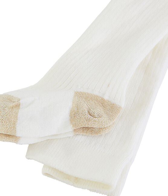 Collants bébé fille blanc Marshmallow