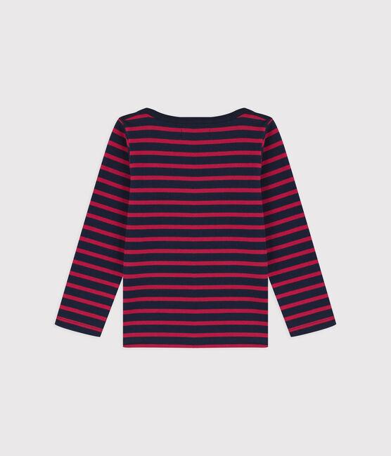 Marinière en jersey enfant garçon bleu Smoking/rouge Rouge