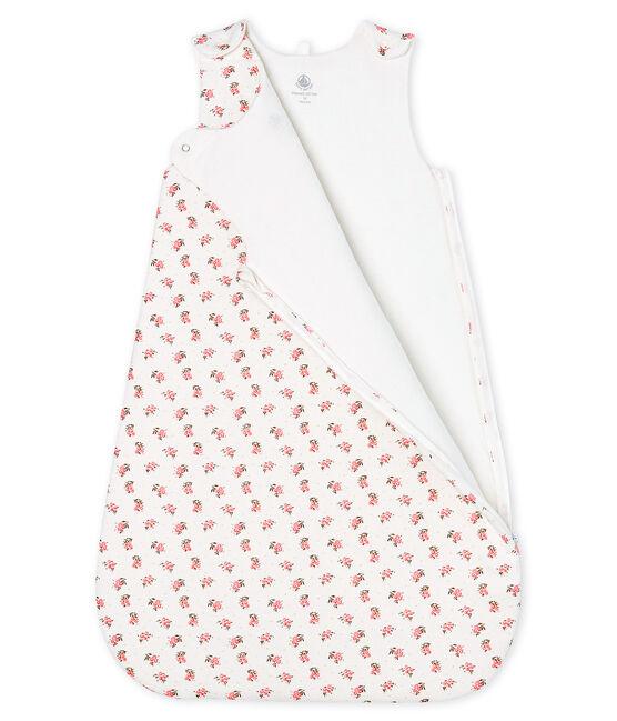 Gigoteuse bébé en velours blanc Marshmallow / blanc Multico