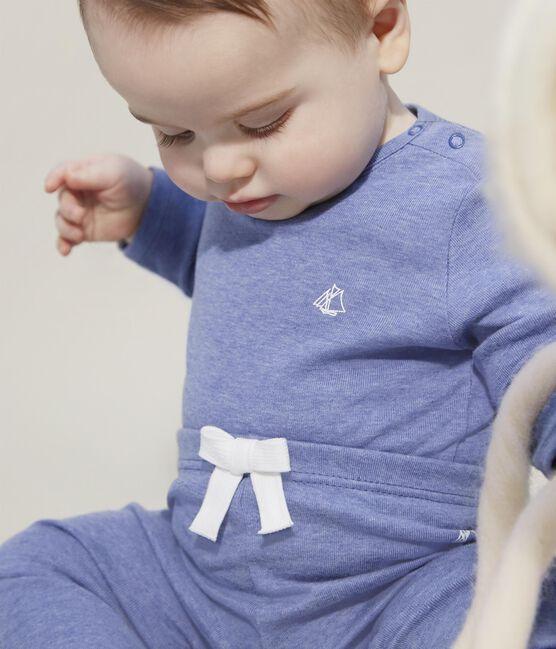 Pantalon bébé fille -garçon en maille bleu Captain Chine