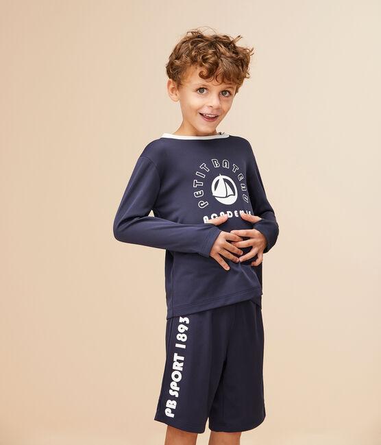 Bermuda de sport enfant garçon bleu Smoking