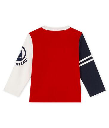 Tee shirt manches longues bébé garçon rouge Terkuit / blanc Multico