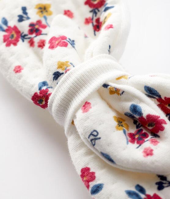 Bandeau fleuri bébé fille blanc Marshmallow / blanc Multico