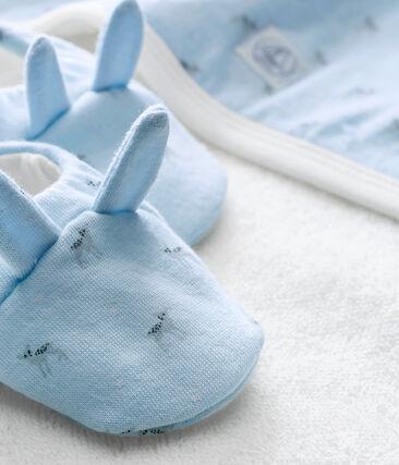 Coffret carré de bain + chaussons bébé mixte