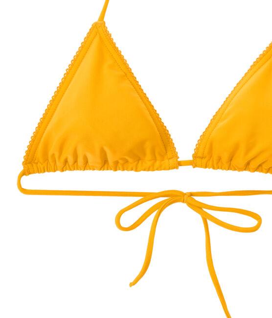 Maillot de bain femme 2 pièces uni orange Fusion