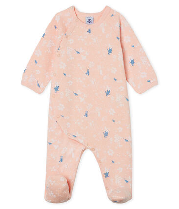 Dors Bien bébé fille en molleton rose Minois / blanc Multico