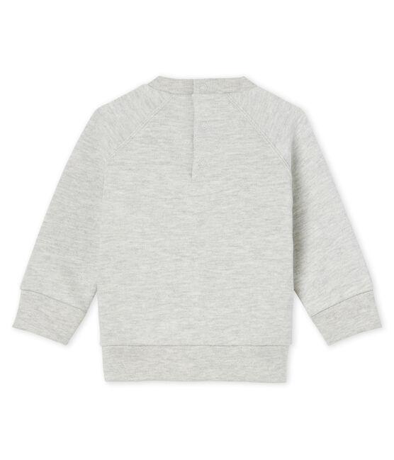 Sweatshirt bébé garçon en molleton gris Beluga
