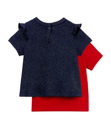Lot de 2 tee-shirts manches courtes bébé fille  ad826008ce8