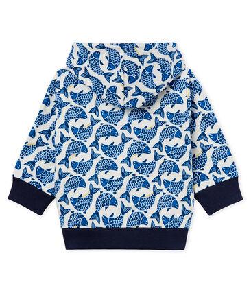 Sweatshirt à capuche zippé bébé garçon en jersey imprimé
