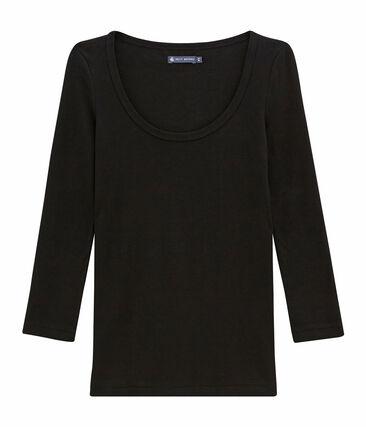 Tee shirt iconique femme noir Noir