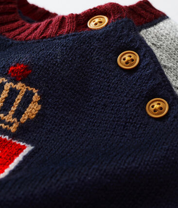 Pull tricot laine et coton bébé garçon