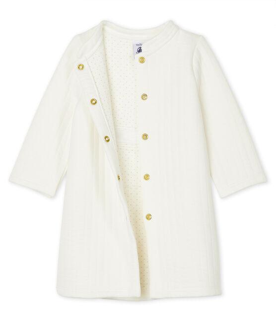 Manteau bébé fille en tubique matelassé blanc Marshmallow