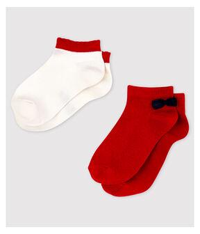Lot de 2 paires de chaussettes basses enfant fille lot .