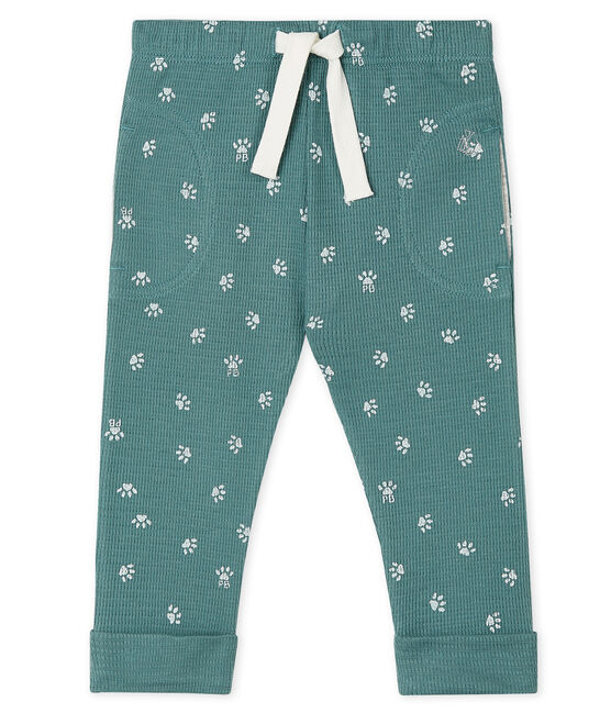 Pantalon bébé bleu Brut / blanc Marshmallow