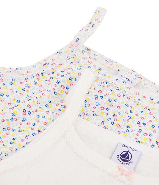 Duo de chemises à bretelles en lin/coton petite fille lot .