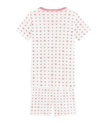 Pyjacourt petite fille coupe très ajustée blanc Marshmallow / blanc Multico